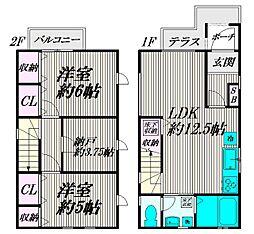善福寺3丁目貸家[B号室]の間取り