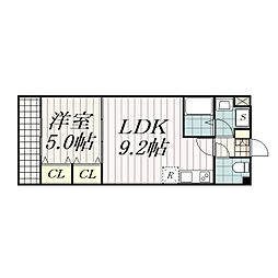 金太郎ヒルズ215[5階]の間取り