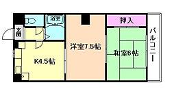 大阪府大阪市都島区中野町3丁目の賃貸マンションの間取り
