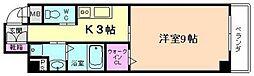 ダイワシティー福島[2階]の間取り