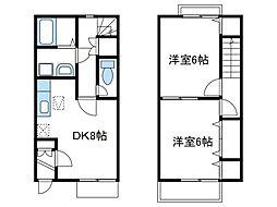 [テラスハウス] 神奈川県厚木市温水西1丁目 の賃貸【/】の間取り