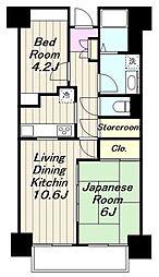 神奈川県海老名市杉久保北4丁目の賃貸マンションの間取り