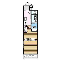 南海高野線 白鷺駅 徒歩5分の賃貸アパート 1階1Kの間取り