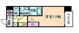 アドバンス西梅田IIIエミネンス[12階]の間取り
