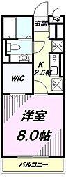 東京都八王子市高倉町の賃貸アパートの間取り