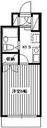 パルナス志木[1階]の間取り