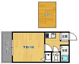 福岡県福岡市西区福重3丁目の賃貸アパートの間取り