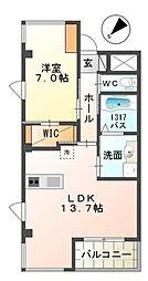 南海高野線 中百舌鳥駅 徒歩7分の賃貸マンション 4階1LDKの間取り