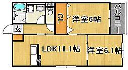 (仮)多々良IIアパート[201号室]の間取り