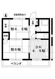 東京都練馬区豊玉中4丁目の賃貸マンションの間取り