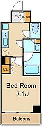 リコットハウス中野新橋 3階ワンルームの間取り