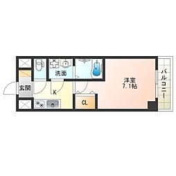 阪神なんば線 九条駅 徒歩8分の賃貸マンション 7階1Kの間取り