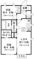 (仮称)田中町1丁目計画 1階2LDKの間取り