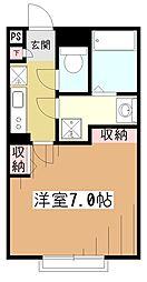 東京都東村山市野口町3丁目の賃貸アパートの間取り