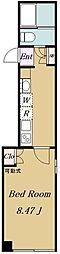 都営三田線 板橋本町駅 徒歩5分の賃貸マンション 4階1Kの間取り