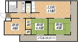 メゾン平野パートI[10階]の間取り