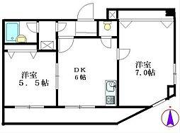 シャリエ三ノ輪[6階]の間取り