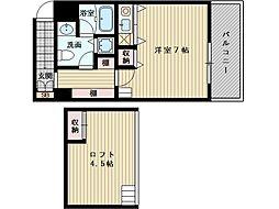 シャトレ上新庄[1階]の間取り