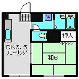 アメニティーハイム三ツ沢[2階]の間取り