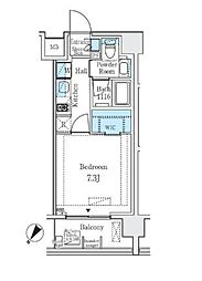 JR山手線 大塚駅 徒歩3分の賃貸マンション 6階1Kの間取り