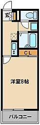 レオネクストサンクワイエットII45598 3階1Kの間取り