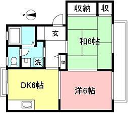 シーサガーデンII[2階]の間取り