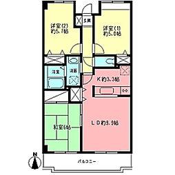 フルーレ神戸[1階]の間取り