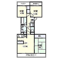 ハイツ東戸塚II B棟[305号室]の間取り