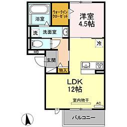 名古屋市営鶴舞線 赤池駅 バス27分 三好上下車 徒歩9分の賃貸アパート 3階1LDKの間取り
