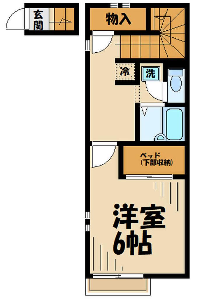 間取り(仲介手数料無料家具家電付き)