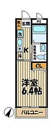 セ カルム鎌倉[402号室]の間取り
