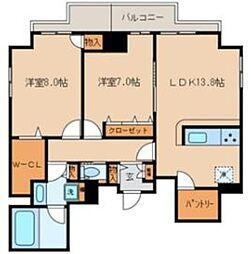 JR山手線 池袋駅 徒歩5分の賃貸マンション 12階2LDKの間取り
