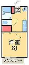 千葉県市原市旭五所の賃貸アパートの間取り