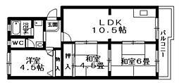 第二ハイツ蓮台寺[1階]の間取り