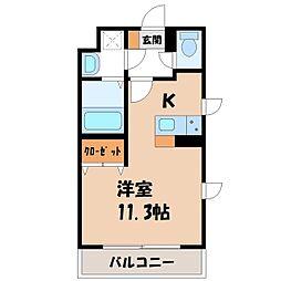 (仮称)宿郷1丁目マンション 1階1Kの間取り