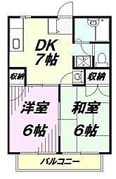 埼玉県狭山市広瀬東3丁目の賃貸アパートの間取り