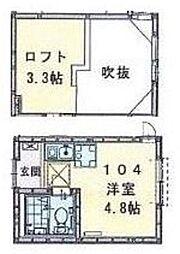 神奈川県横浜市緑区長津田4丁目の賃貸アパートの間取り
