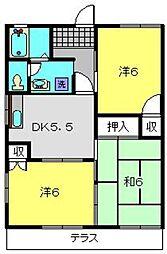 オプティハイツA[1階]の間取り