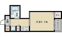 ティーホームズ新大阪[5階]の間取り