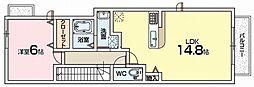 ベル・エトワールA棟[1階]の間取り