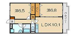 桜ユーミーマンション[203号室]の間取り