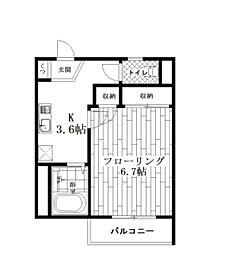 メゾンドゥヒロ[1階]の間取り