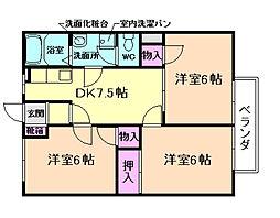 パラッツオ松村[1階]の間取り