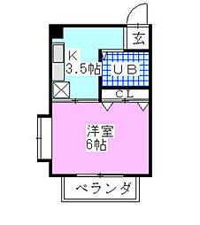 千葉県船橋市古作3丁目の賃貸マンションの間取り