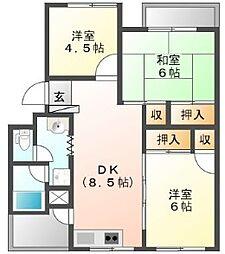 第二吉野川ハイツ[2階]の間取り