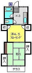 グリーンハイツF[1階]の間取り