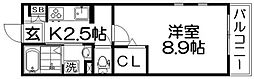 グラシオッソII[3階]の間取り