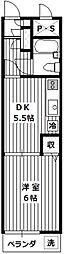 煉瓦館33[305号室]の間取り