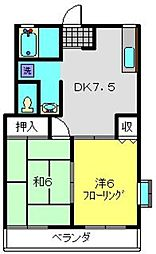 オプティハイツB[1階]の間取り