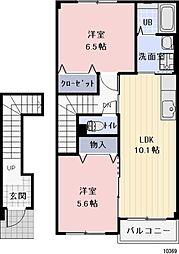 愛知県豊橋市西口町の賃貸アパートの間取り
